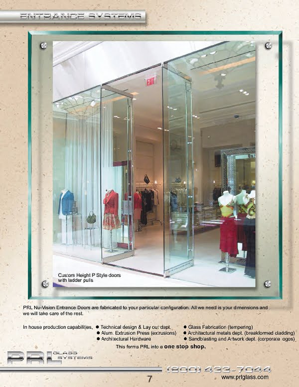 Complete glass entrance door systems with all necessary hardware, ready for installation