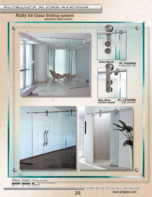 All Glass Sliding Door System