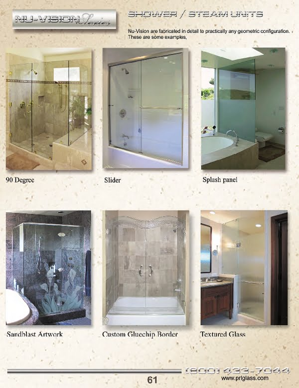 PRL offers from traditional all glass shower door styles to the most elegant and contemporary styles