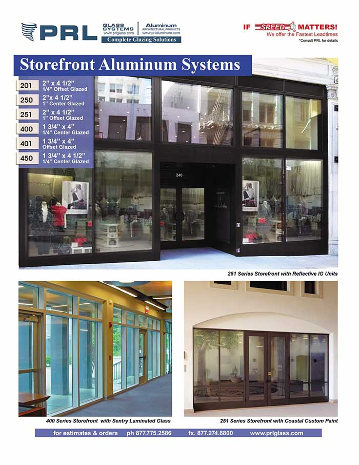 Aluminum Storefront Detailed Product Info