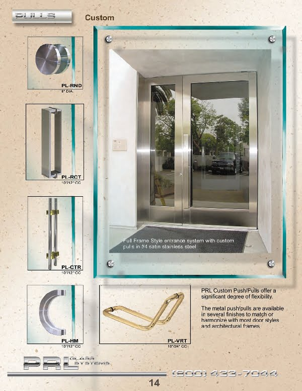 Custom Commercial Door Pulls offer a unique look and can be fabricated in most finishes.