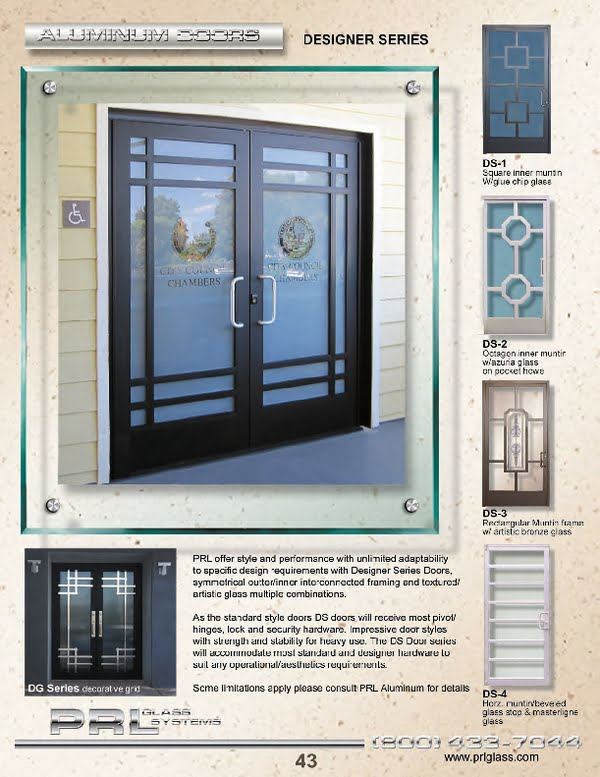 Custom Aluminum Entrance Doors and Hardware