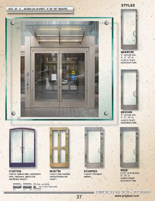 Simply supply us your custom glass clad door system specifications and let us take care of the rest Toll Free 800-433-7044