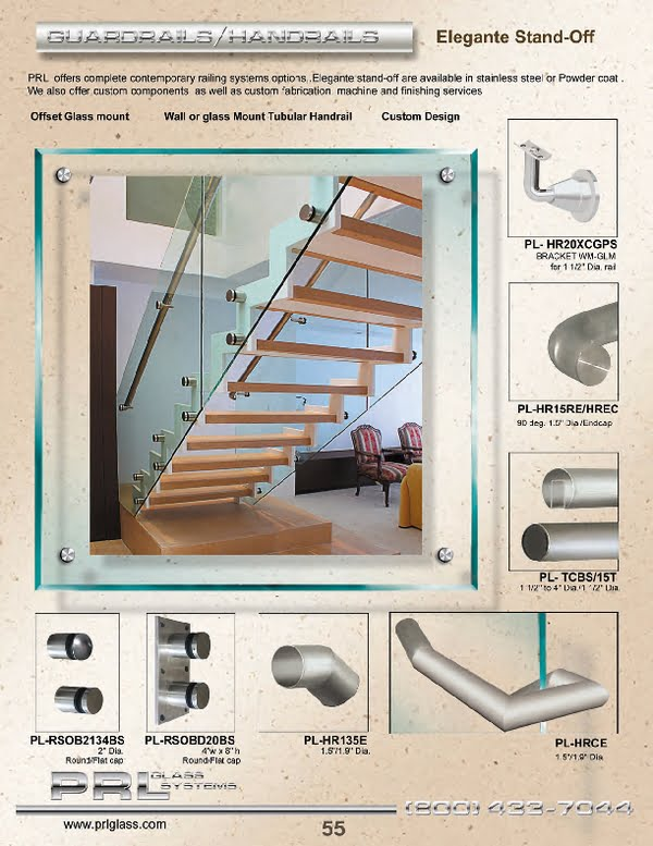 The elegant glass railing components are a show case that enable the architect and designer to go beyond ones imagination