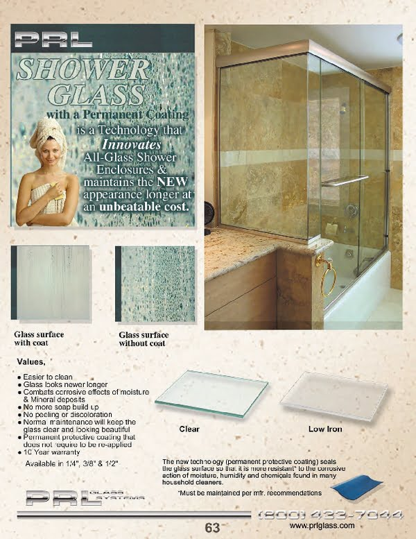 Permanent shower door glass coatings
