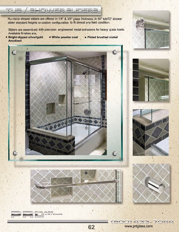 We carry a wide variety of frameless shower enclosures, sliders including textured glass to the most innovative Shower Glass available